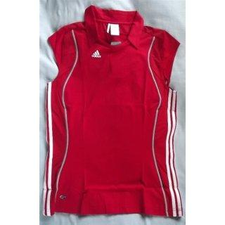 adidas T8 Clima Polo W in rot/weiß M (38-40)