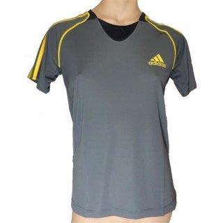 adidas Func SS Tee W T-Shirt Trikot Sport-Shirt (grau/gelb)