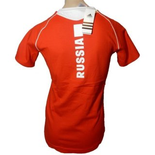 adidas Pres S/S Tee Shirt Russia Russland Team 40