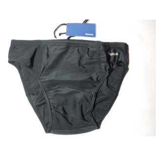 Reebok Mens Core swim Brief Badehose schwarz Gr. M, XXL