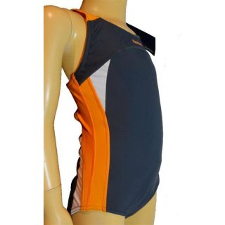 Reebok Girls aquatic swimsuit Badeanzug blau/orange/weiß  Gr. 104 bis 164