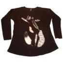 NWF frekans Shirt Longshirt Federn schwarz Gr. M 38/40