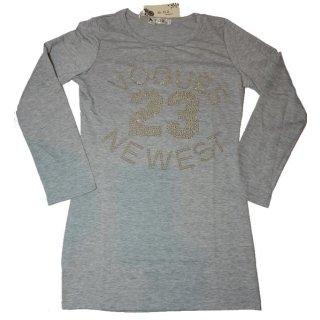 G-D2 Shirt Longshirt Vouges mit Pailetten Gr. XL/XXL (grau)
