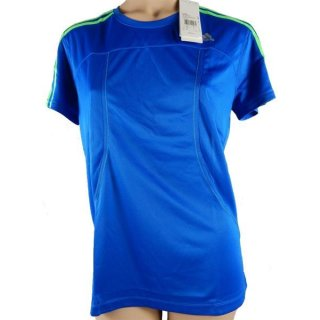 adidas RSP SS T W Tee T-Shirt Running Fitness blau/grün